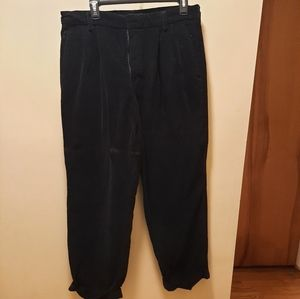 Dockers corduroy pants pleated relaxed fit black